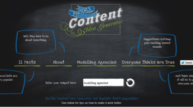 Need Inspiration? Try This Cool Content Generator!